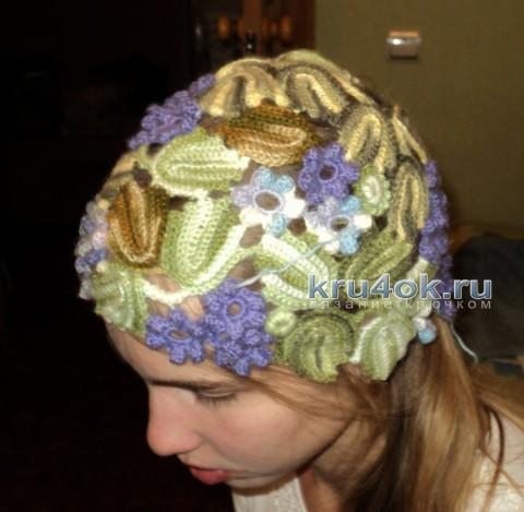 Ажурная шапочка Фиалки.