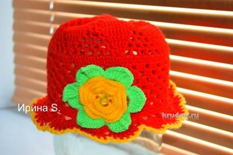Детская панама крючком. Работа Ирины Стильник вязание и схемы вязания