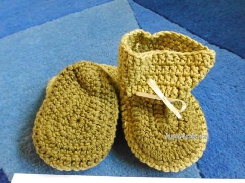 Детские пинетки. Работа Евгении вязание и схемы вязания