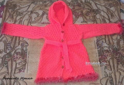 Детское пальто крючком. Работы Ирины вязание и схемы вязания