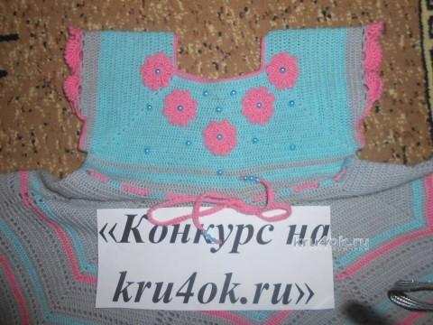 Детское платье крючком. Работа Галины Лукериной вязание и схемы вязания