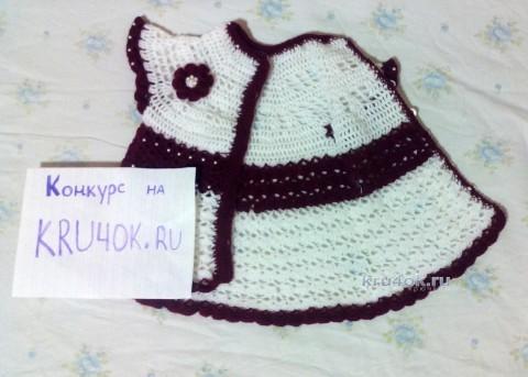 Кофта - платье Курочка. Работа Марии вязание и схемы вязания