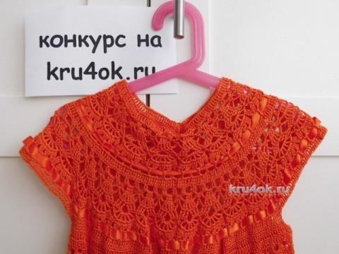 Платье для девочки. Работа Евгении вязание и схемы вязания