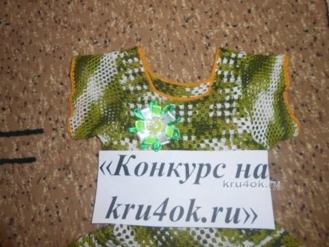 Платье для девочки. Работа Галины Лукериной вязание и схемы вязания
