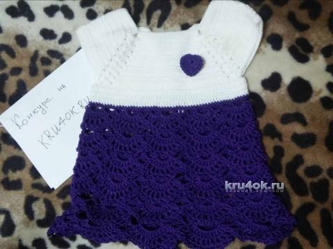 Платье для девочки. Работа Милы вязание и схемы вязания