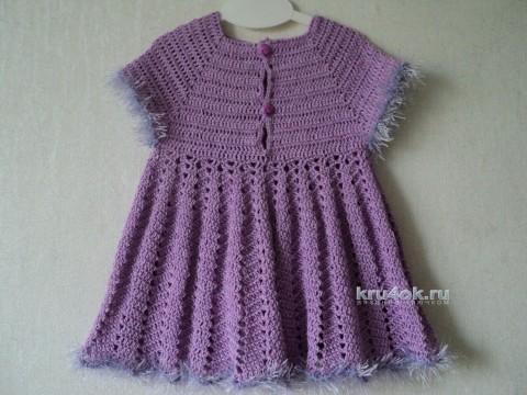 Платье для девочки. Работа Светланы вязание и схемы вязания