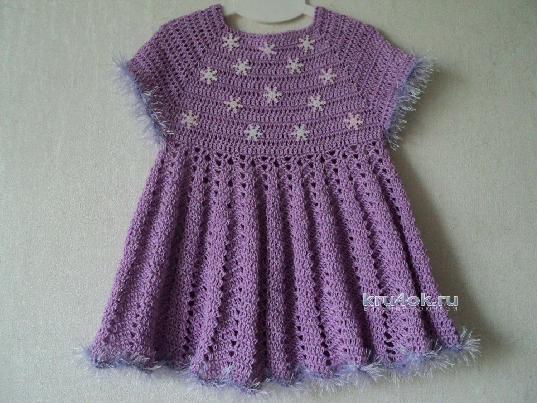 Вязание детские платья крючком от светланы берсановой