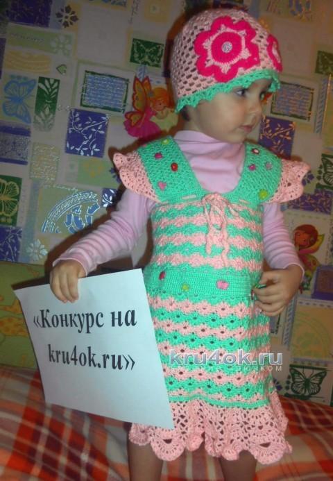 Сарафан для девочки. Работа Галины Лукериной вязание и схемы вязания