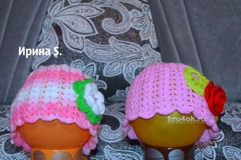Шапочки для девочек. Работы Ирины Стильник вязание и схемы вязания