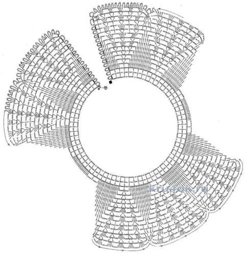 Воротничок крючком. Работа Марии вязание и схемы вязания