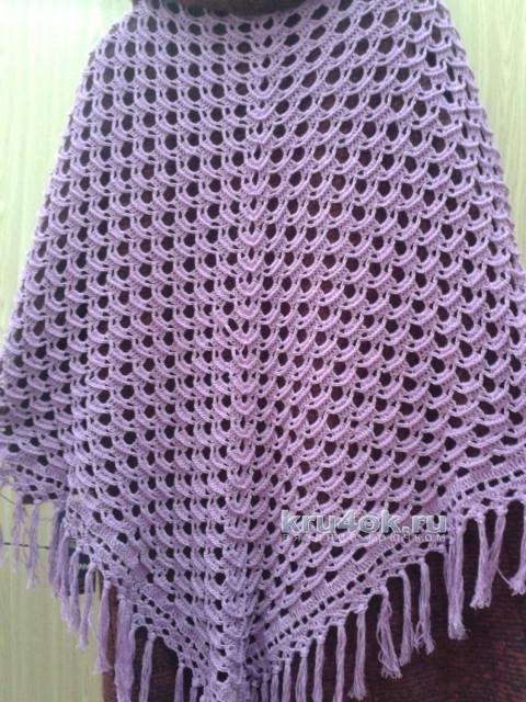 Вязаная крючком шаль. Работа Галины Коржуновой вязание и схемы вязания