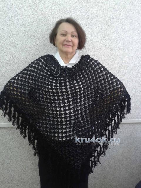 Вязаная шаль. Работа Галины Коржуновой вязание и схемы вязания