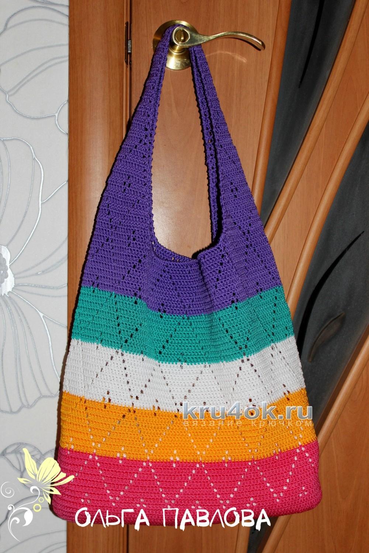 вязание крючком сумки через плечо схема