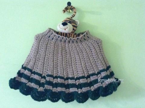 Вязаная юбка для девочки. Работа Марии вязание и схемы вязания