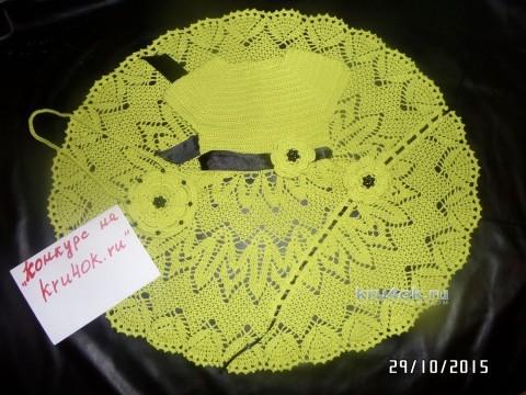 Вязаное детское платье. Работа Натальи вязание и схемы вязания