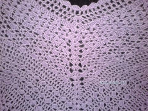 Вязаное крючком пончо. Работа Галины Коржуновой вязание и схемы вязания
