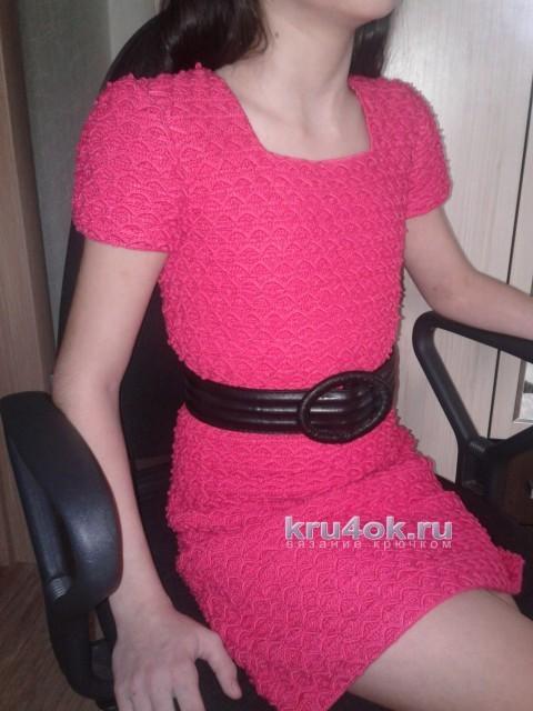 Вязаное платье для девочки. Работа Арины вязание и схемы вязания