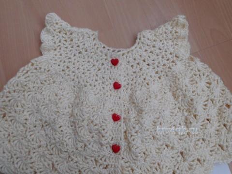 Вязаное платье для девочки. Работа Евгении вязание и схемы вязания