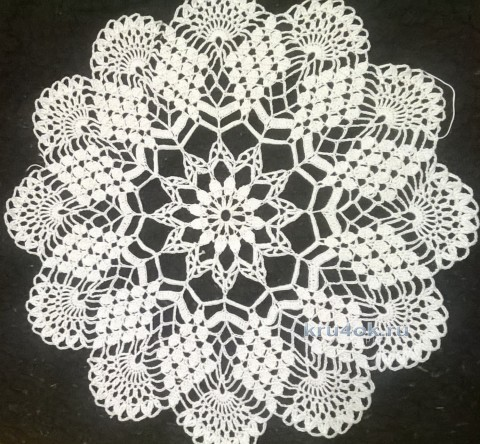 Вязаные салфетки. Работы Анжелики Романюк вязание и схемы вязания