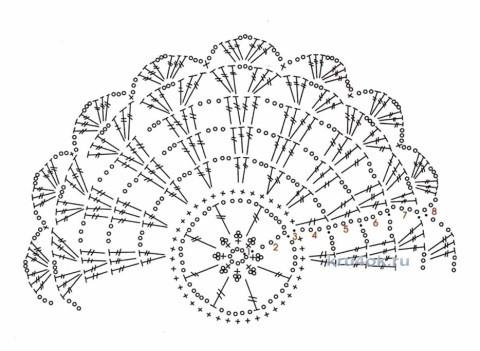 Вязаный крючком топ. Работа Анастасии Поповой вязание и схемы вязания