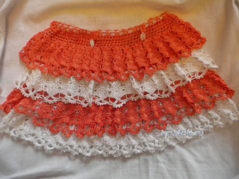 Юбочка для девочки крючком. Работы Ирины вязание и схемы вязания