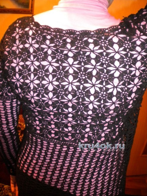 Женская кофточка крючком. Работа Ирины вязание и схемы вязания