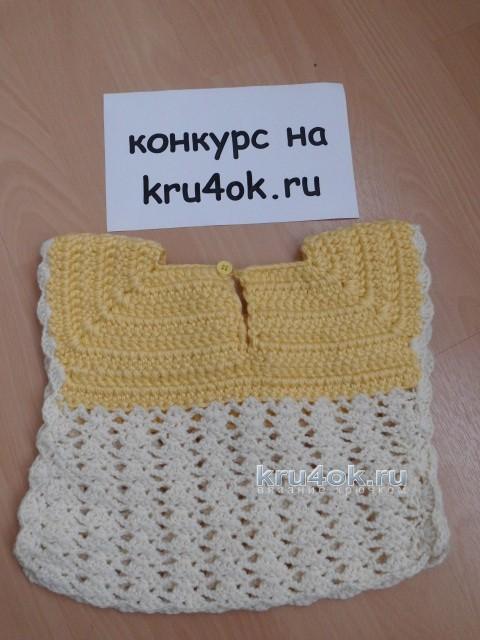 Жилет для девочки. Работа Евгении вязание и схемы вязания