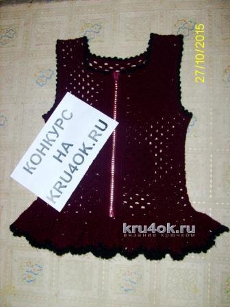 Жилет и юбка для девочки. Работы Наргисы вязание и схемы вязания