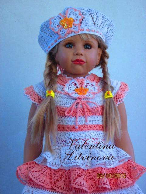 платье и шапочка для девочки