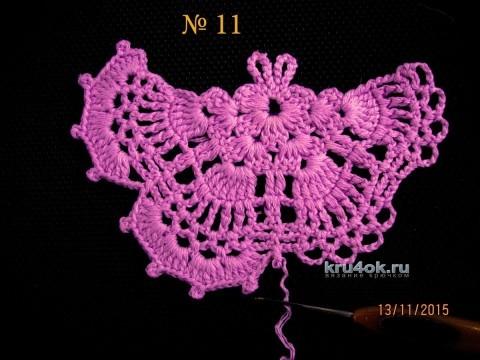 Бабочка крючком. Мастер - класс от Валентины Литвиновой вязание и схемы вязания