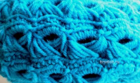Берет и манишка крючком. Работы Нины Колотило вязание и схемы вязания