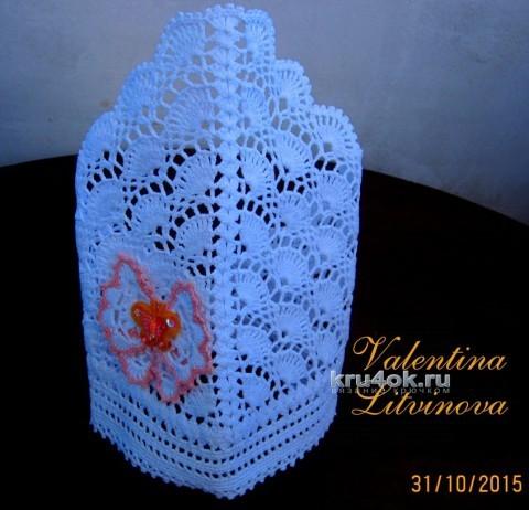 Детская косынка крючком. Работа Валентины Литвиновой вязание и схемы вязания