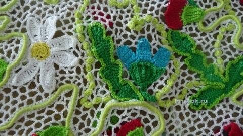 Детское платье и сумочка в технике ирландского кружева вязание и схемы вязания