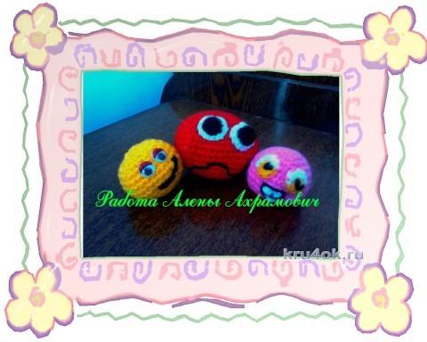 Игрушки Смайлики. Работы Алены вязание и схемы вязания
