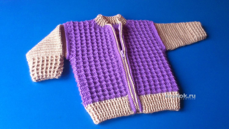 Вязание детские кофты для девочки на молнии