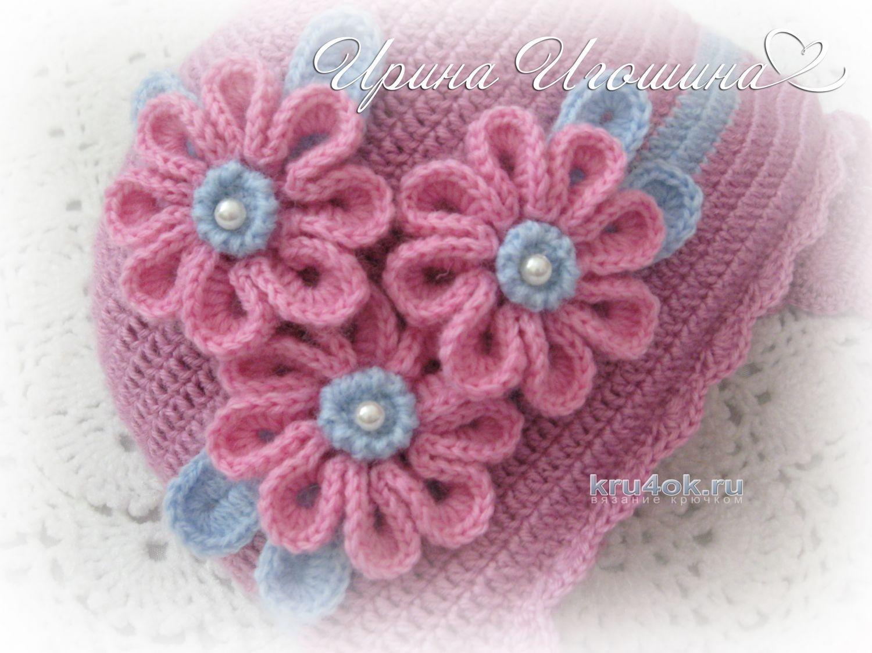 схема вязания шапочки и шарфика для новорожденного мальчика