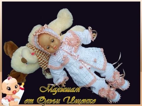 Комплект Нежность. Работа Ольги Ищенко вязание и схемы вязания