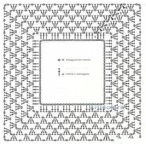 Комплект Ромашковое поле. Работа Ольги Ищенко вязание и схемы вязания