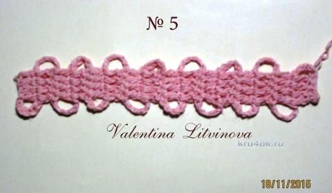 Ленточное кружево. Мастер - класс от Валентины Литвиновой вязание и схемы вязания