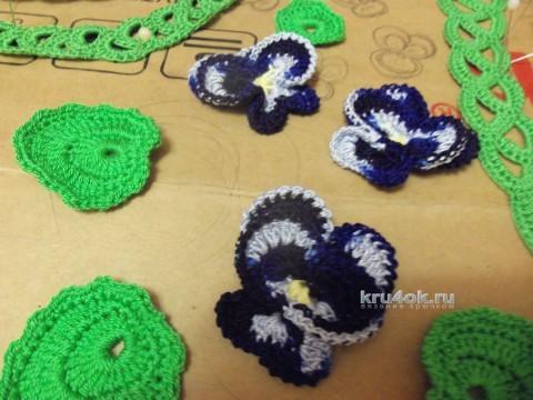 Летнее платье. Работа Лилии Эскабар вязание и схемы вязания