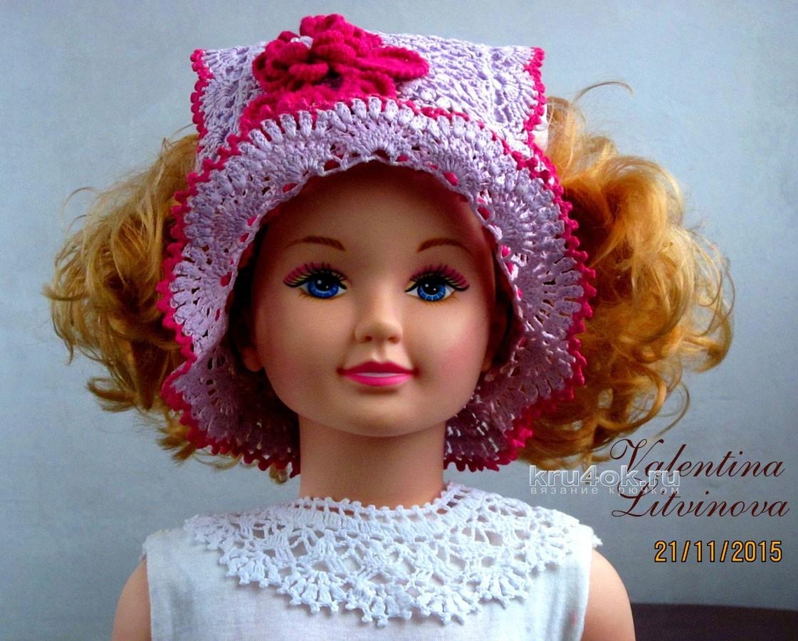 схема летней шапочки крючком девочке 2 лет