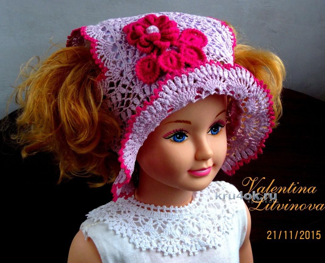 летняя шапочка для девочки работа валентины литвиновой
