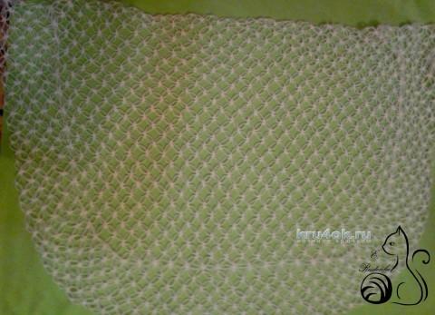 Мастер класс по вязанию ажурной шали Соломоновыми петлями вязание и схемы вязания
