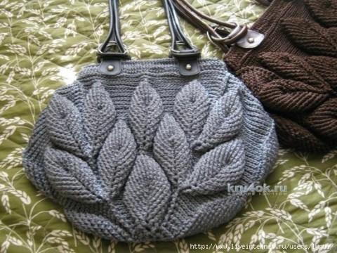 МК по вязанию шапочки с листиками от Ефимии Андреевских вязание и схемы вязания