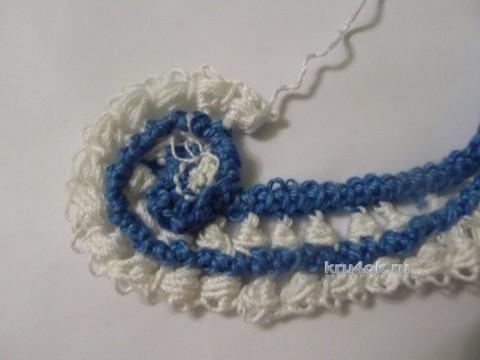 МК завиток в технике ирландского кружева вязание и схемы вязания