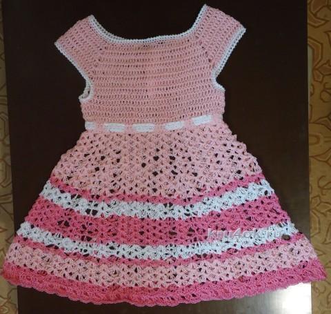 Платье для девочки. Работа Елены вязание и схемы вязания