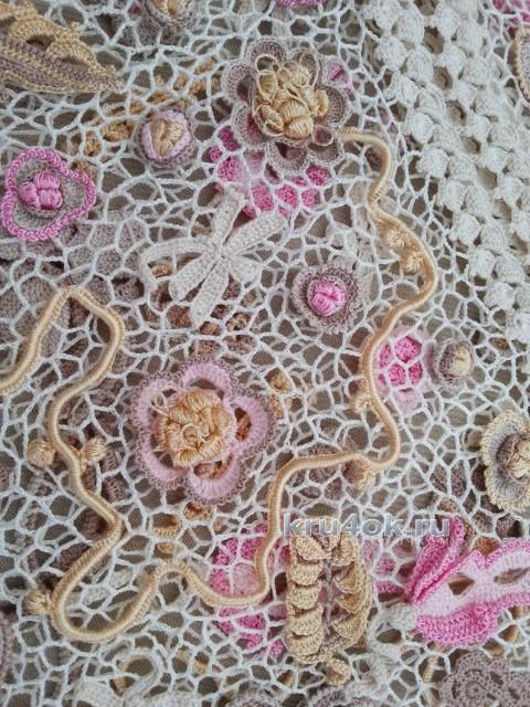 Платье для девочки. Работа Людмилы Максютовой вязание и схемы вязания
