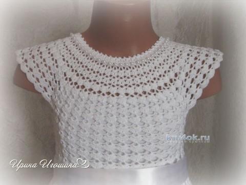 Платье Снежинка. Работа Ирины Игошиной вязание и схемы вязания