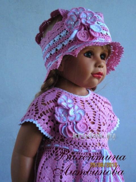 Платье Волшебная фея. Работа Валентины Литвиновой вязание и схемы вязания