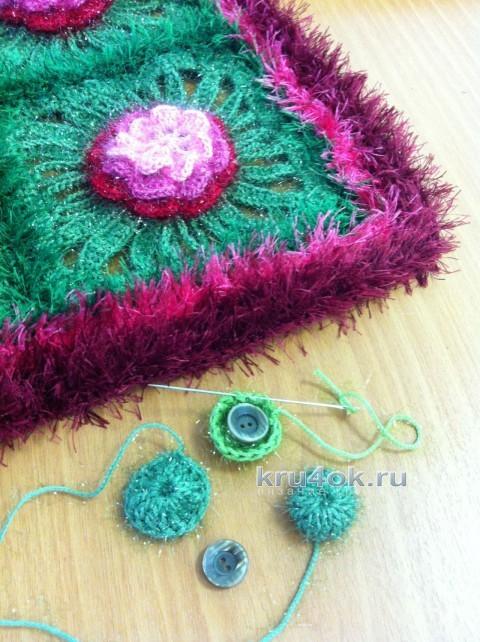 Подушка Хорошое настроение. Работа Надежды Борисовой вязание и схемы вязания